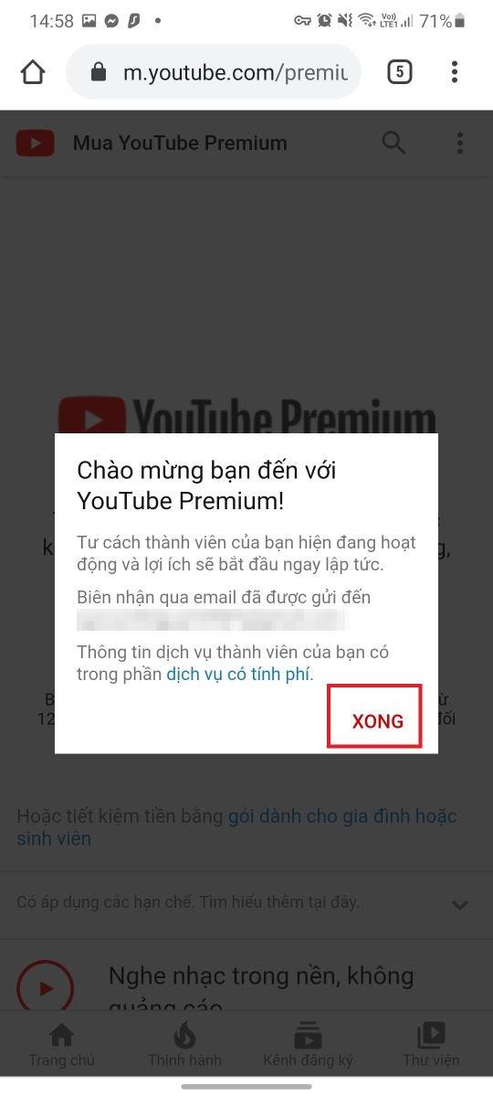 Mẹo đơn giản giúp bạn nhận 4 tháng YouTube Premium hoàn toàn miễn phí 9